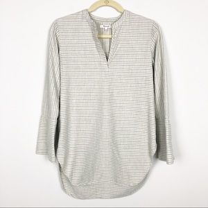 Madewell cotton striped tunic top